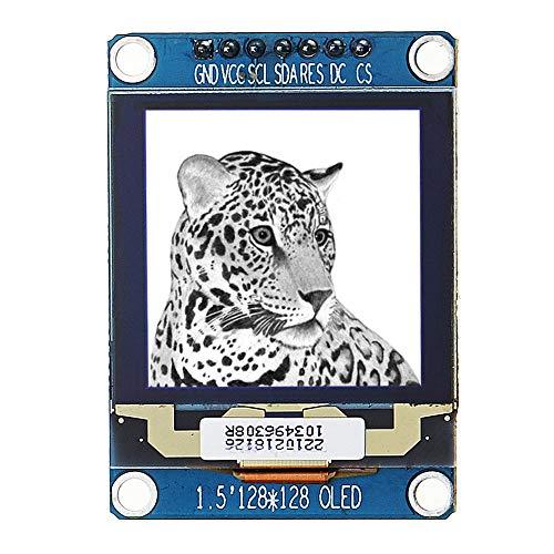 PULLEY -L 1.5 pulgadas 128x128 OLED módulo de pantalla blanco controlador IC SSD1327 SPI IIC I2C L