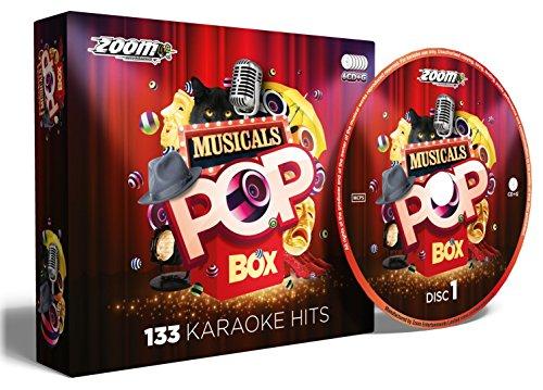 Zoom Karaoke Musicals Pop Box Party Pack - 6 CD+G Box Set - 133 Songs