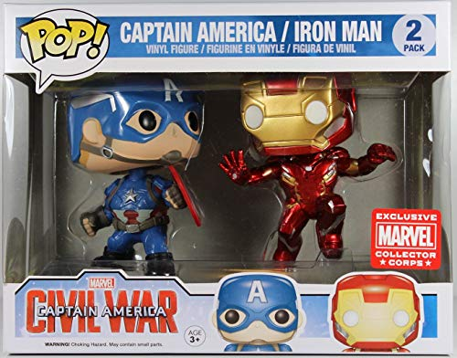 Marvel: Civil War - Captain America vs. Iron Man Collectors Corps 2 Pack Funko Pop! Vinyl Figure (Includes Compatible Pop Box Protector Case)