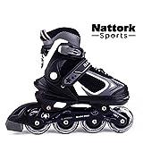 Nattork Adjustable Inline Skates for Kids and Adults with Light Up Wheels,Beginner Skates