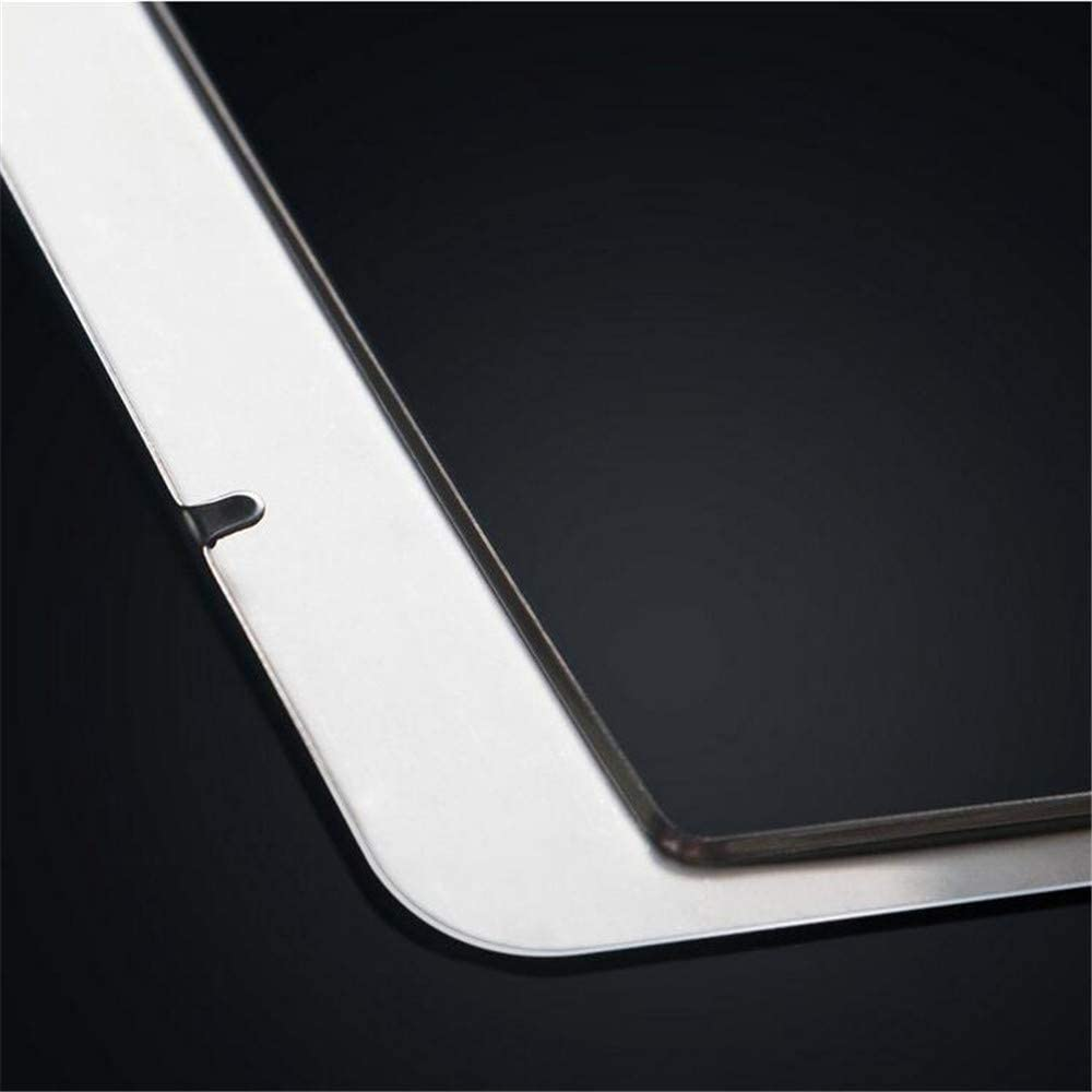 Large Square Rhinestone Ornament License Plate Holder Black Durable Multi Color Metal Frame for Standard Size License Plates Stainless Steel License Plate Frame