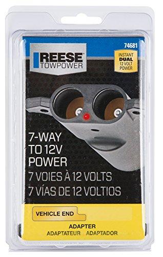 Reese Towpower 74681 Dual Port 12 Volt Power Adapter