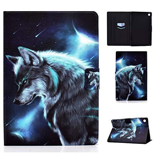 Rosbtib Custodia Compatibile con Lenovo Tab M10 Plus FHD(2nd Gen) 10.3 Pollici Tablet,Custodia Cover Ultrasottile Smart Protettiva Case per Lenovo Tab M10 Plus TB-X606F/TB-X606X , Lupo