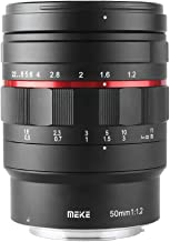 Meike MK-50mm F1.2 RF LargeAperture Manual Focus Fixed Lens for Canon Full Frame EOS R EOS-RP R5 R6 Mirrorless Cameras
