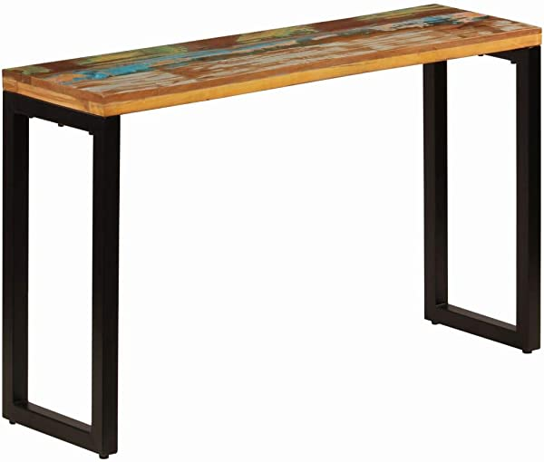 VidaXL Console Table Steel Legs 47 2 Solid Reclaimed Wood Accent Dining Desk