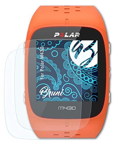 Bruni Schutzfolie kompatibel mit Polar M430 Folie, glasklare Bildschirmschutzfolie (2X)