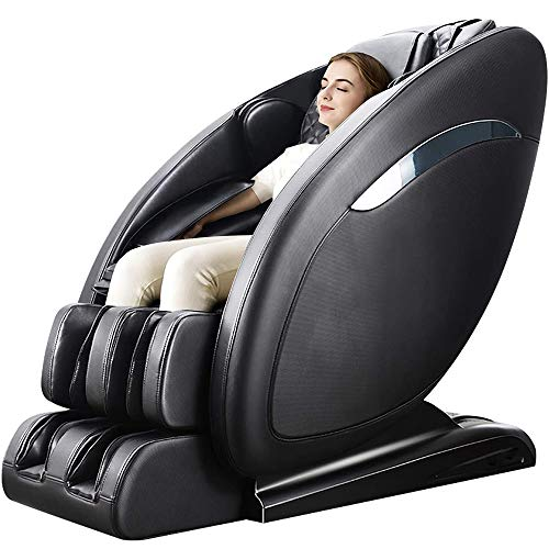 Lernonl Massage Chair Zero Gravity Full Body SL-Track, Shiatsu Massage Chair with Stretching Tapping Heating Yoga Massage Back and Foot Massagers Black