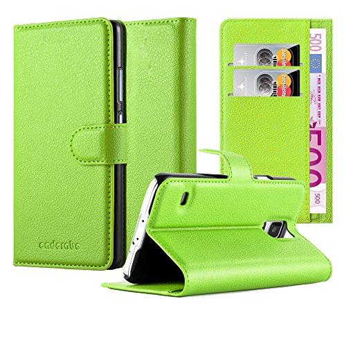 Cadorabo Hülle für Samsung Galaxy S5 / S5 NEO in MINZ GRÜN - Handyhülle mit Magnetverschluss, Standfunktion & Kartenfach - Hülle Cover Schutzhülle Etui Tasche Book Klapp Style