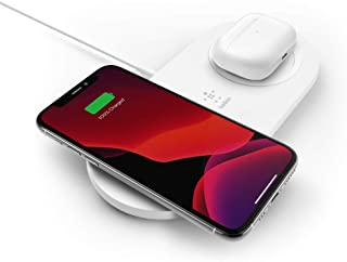 Belkin WIZ008AUWH Dual Wireless Charger (Dual Wireless Charging Pad 15W) Fast Charge 2 Devices at Once, Including iPhone, ...