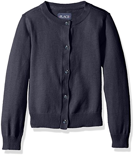 The Children's Place Baby Girls' Toddler Uniform Cardigan Sweater, Tidal, 2T