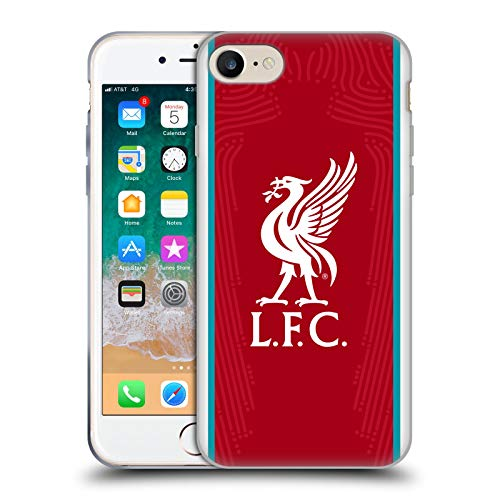 Head Case Designs Offizielle Liverpool Football Club Home 2020/21 Soft Gel Handyhülle Hülle Huelle kompatibel mit Apple iPhone 7 / iPhone 8 / iPhone SE 2020