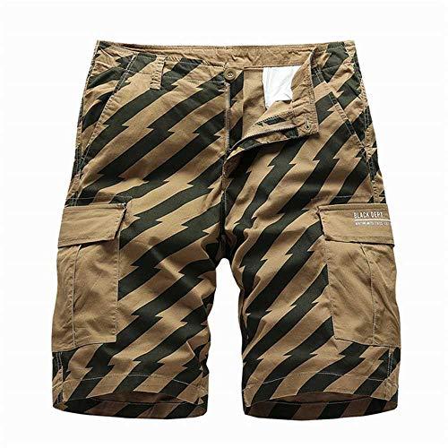 Short Hommes Cargo Shorts Armée Shorts Militaires D'été Hommes Coton Lâche Travail Casual Shorts Mâle Multi Poche Pantalon Court