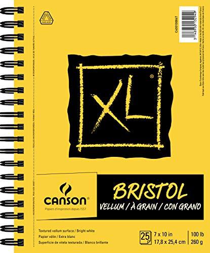 Canson XL Series Vellum Bristol, Yellow/Black