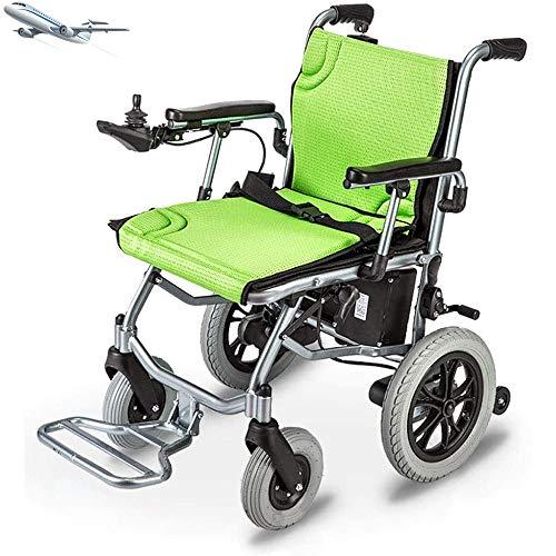 COKECO Leichte Rollstühle Elektrische Rollstühle verfügen über Zwei Steuerfunktionen,einen kompakten elektrischen,Tragbares leichtes behindertes Fahrzeug Einer maximalen Last von 200 kg