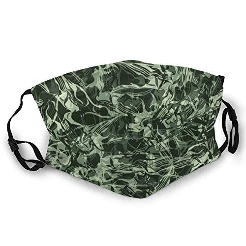 Moda Unisex Máscara de tela Lavable y reutilizable Cazador que fluye Evergreen Forest Protección facial Cubierta Balaclava Diademas para adultos Deportes al aire libre