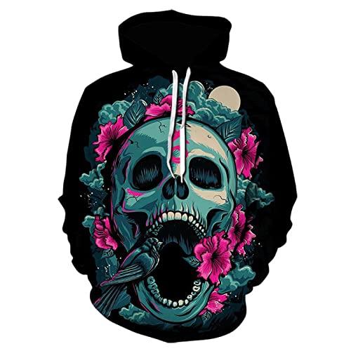 Pullover Longsleeve Sweatshirt Abbigliamento Felpe Sportive con Hooded Pullover Stampa 3D di Moda per Maglioni da Uomo e da Donna