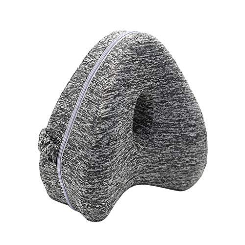 AMH NEU!Beinruhekissen Kniekissen, Ergonomisches Seitenschläferkissen Memory Foam Kissen für Seitenschläfer stützt Beine, Knie und Rücken (grau)
