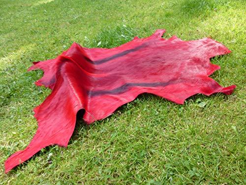 Mt-Living Springbockfell gefärbt - Orginal aus Namibia (rot)