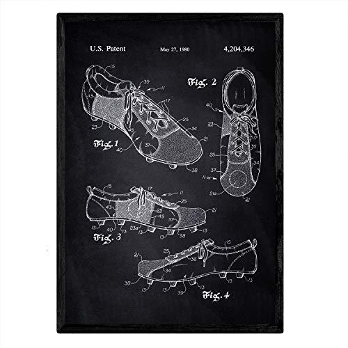 Nacnic Poster con patente de Botas de tacos1. Lámina con di