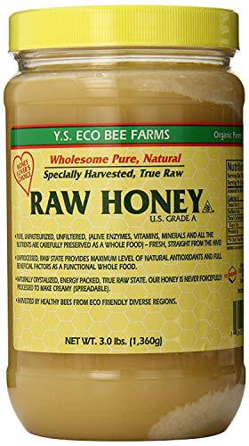Eco Bee Farms RAW HONEY - Raw, Unfiltered, Unpasteurized - Kosher 3lbs