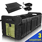 Car Trunk Organizer for SUV [3 Large Compartments] Collapsible Portable Non-Slip...