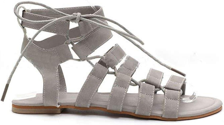 Tcvncfshfs Women Beach Sandals Ankle Strap Lace Up