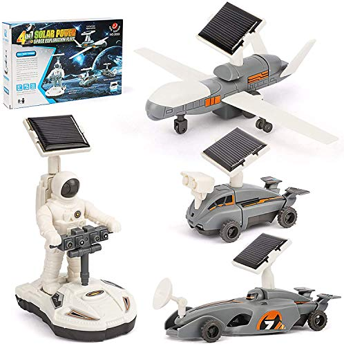 BeebeeRun Science Building Toy Kits for Kid, 4 in 1 Solar Powered Space Robot Kit DIY Education...