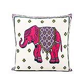 NiceButy rosa elefante algodón manta funda de...