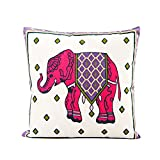 NiceButy rosa elefante algodón manta funda de almohada Funda para cojín sofá cama casa Decor