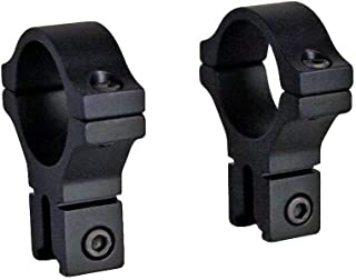 BKL 300 3/8in Dovetail Scope Rings for 1in Scopes, .6in Long, Matte Black