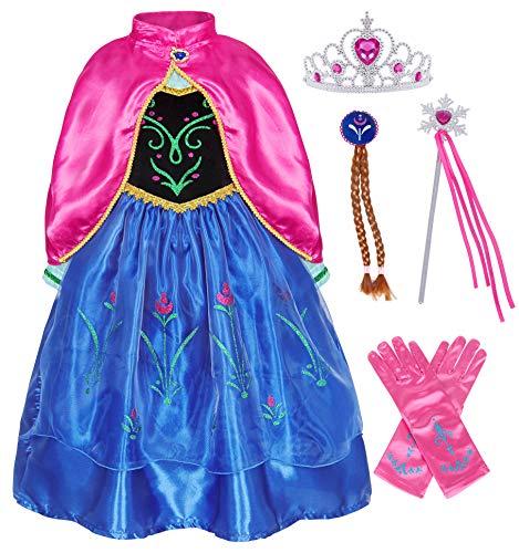 AmzBarley Vestito da Principessa per Bambina Costume Festa Cosplay Abiti Ragazza Compleanno Carnevale Vacanza Halloween Vestiti Abito Sera Cerimonia Spettacolo Capo