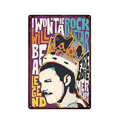 Cartel de Chapa de Metal Rock Music Art Poster Señalización Nostálgico Retro Placa de Metal Bar Club Decoración del hogar Arte Pintura Etiqueta de la Pared Etiqueta de la Pared 20x30cm 11