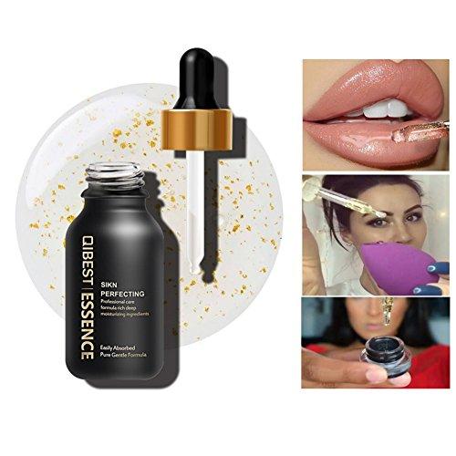 Allbesta 24K Gold Infused Beauty Oil Feuchtigkeitspflege Make-up Serum Rich in Vitamin A&E Anti-Aging Primer Foundation