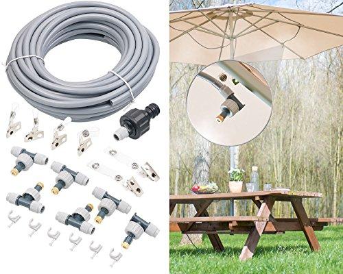 Royal Gardineer Wasserzerstäuber: Wasser-Zerstäuber-Set, 10-Meter-Schlauch und 6 bewegliche Metalldüsen (Wasserzerstäuber Düse)