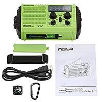 Solar Hand Crank Portable NOAA Weather Radio,AM/FM/SW Emergency Radio for Household,Outdoor,Survival, 5-Way Powered…