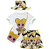 Baby Cute Dolls Konfetti Pop Tshirt + Rock + Tasche + Hut für Mädchen Lil Outrageous Little Girl...
