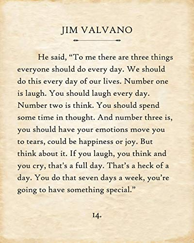 Poster - Jim Valvano - 3 Things Every Day - Choose Unframed Poster or Canvas - Great Inspirational and Motivational Gift and Home and Office Decor Under $30