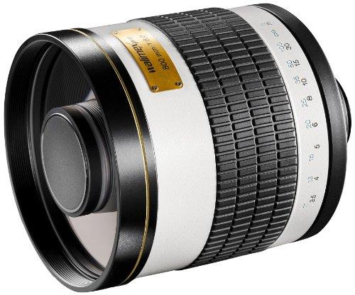 Walimex Pro - Objetivo CSC para réflex, Compatible con Montura Canon EOS M, 800 mm, 1:8,0, Rosca de Filtro de 35 mm, Color Blanco