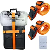 Thenewallhere Luggage Straps for Suitcases,Heavy Duty Travel Accessories Belts,Adjustable with Quick Release Buckle/Clips,2 PCS Nylon 2'x78' Add A Bag Backpack,Luggage,Suitcases Packing Securing Strap