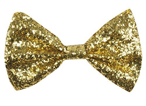 Boland 53110 Fliege Glitzer, Herren, gold, One Size