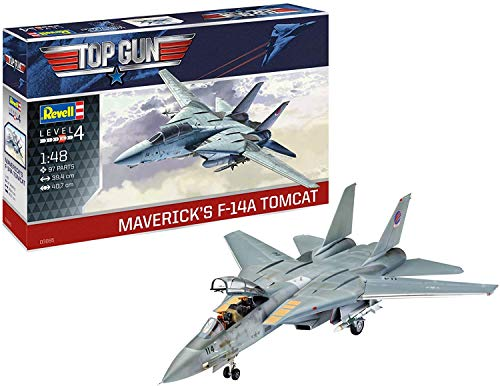 Revell 03865 F-14 A Tomcat Top Gun originalgetreuer Modellbausatz für Fortgeschrittene, unlackiert