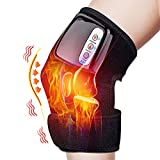 Heated and Vibration Knee Massager Brace Wrap, Rechargeable Electric Heating Pad Massage for Knee Shoulder for Men Women