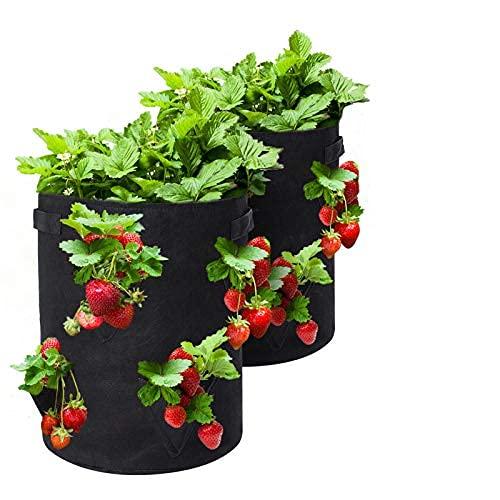 Tvird Bolsa para Plantas, 10Gallon Strawberry Plant Grow Bolsa con Asas, Bolsa Transpirable y...