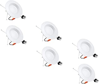 6 Pack 5/6 inch Dimmable LED Downlight, Recessed Retrofit Lighting Fixture, 15W (100W Replacement), 5000K Daylight White, 1360LM, Energy Star & ETL, LED Ceiling Light (5000K(Daylight White), 6 Pack)