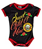 Guns N Roses Sweet Child O' Mine Baby Diaper Suit Romper (6-12 Months, Black/Red)