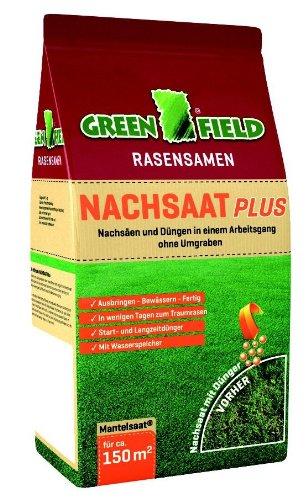Greenfield Nachsaat Plus | 5kg Rasensaat zum Nachsäen ohne Umgraben