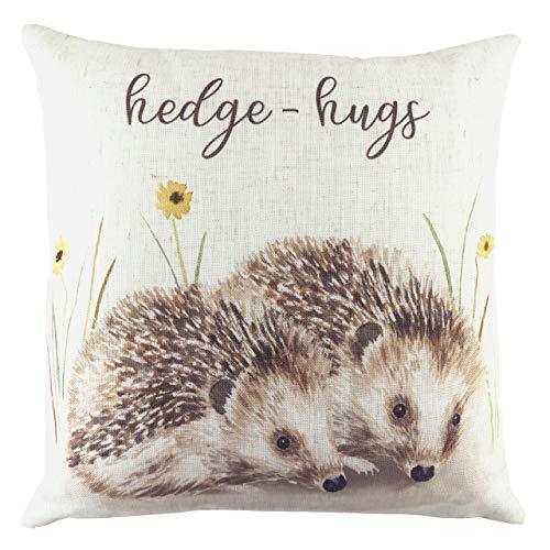 Evans Lichfield Woodland Hedgehugs Polyester Filled Cushion, Multi, 43 x 43cm