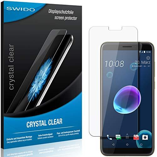 SWIDO Schutzfolie für HTC Desire 12s [2 Stück] Kristall-Klar, Hoher Festigkeitgrad, Schutz vor Öl, Staub & Kratzer/Glasfolie, Bildschirmschutz, Bildschirmschutzfolie, Panzerglas-Folie