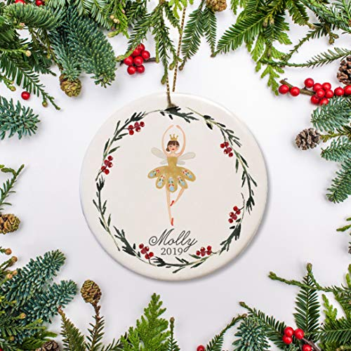 Dkisee Notenkraker Kerstmis Keramiek Ornament Ballerina Gepersonaliseerde Keramiek Ornament Gift Perfect Keepsake Gift Voor Kind 3.1 inch