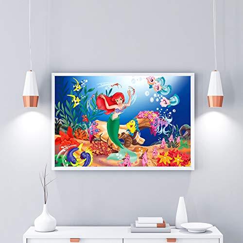 baodanla Geen frame Moderne muur opknoping kunst kleine zeemeermin huisdecoratie spray schilderij